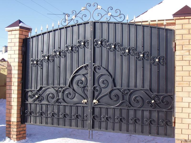 Ворота кованые фото своими руками