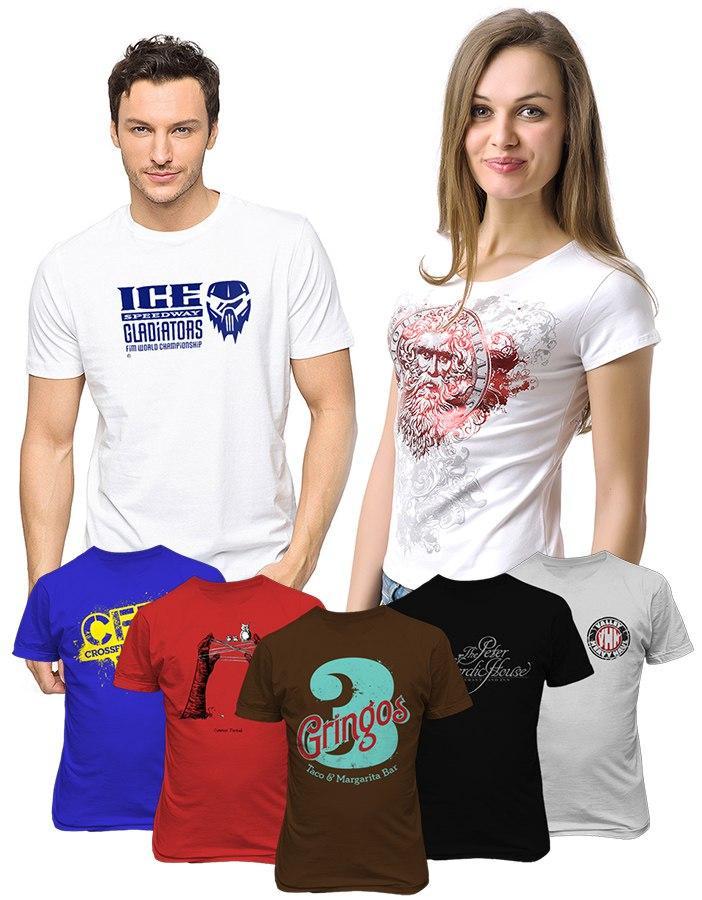 печать 1000 футболок