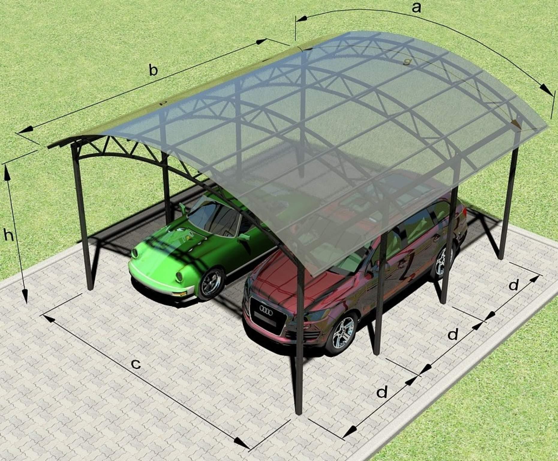 Изготовление навеса для машины из поликарбоната своими руками, фото примеры 92