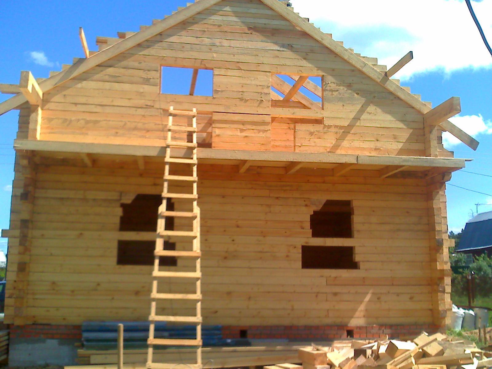 Фото о строительстве дома из бруса своими