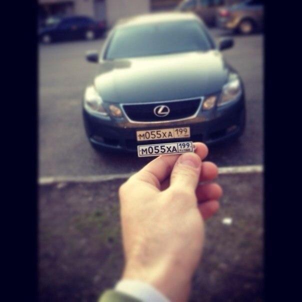 Номер на машине своими руками