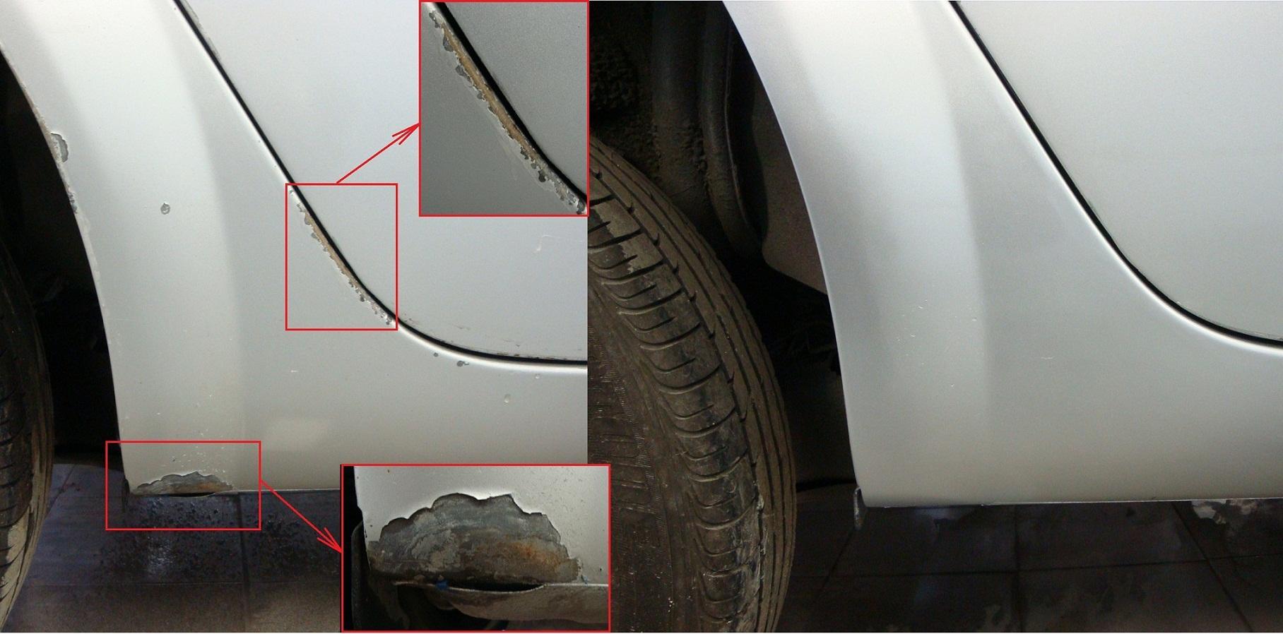 Ремонт царапин и сколов на кузове автомобиля