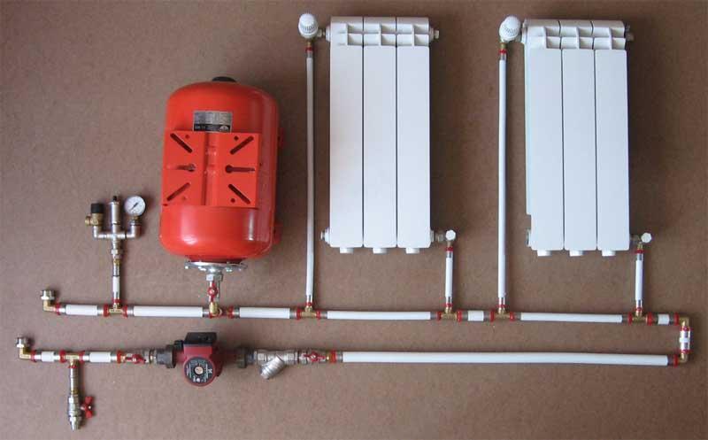 Монтаж систем отопления своими руками фото