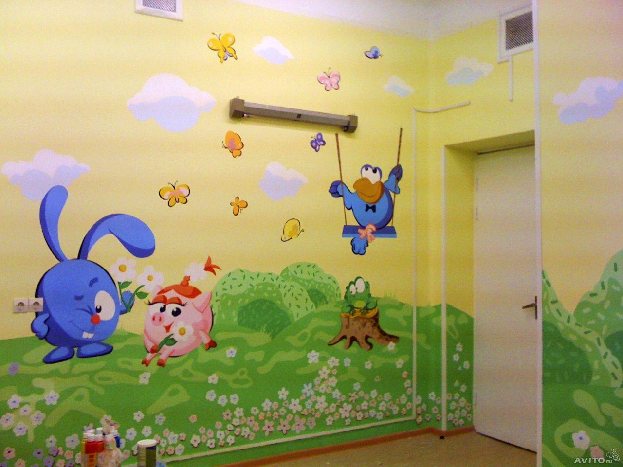 Рисунки на стену в комнате своими руками фото