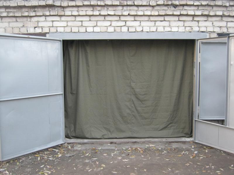 Шторка на ворота в гараж своими руками