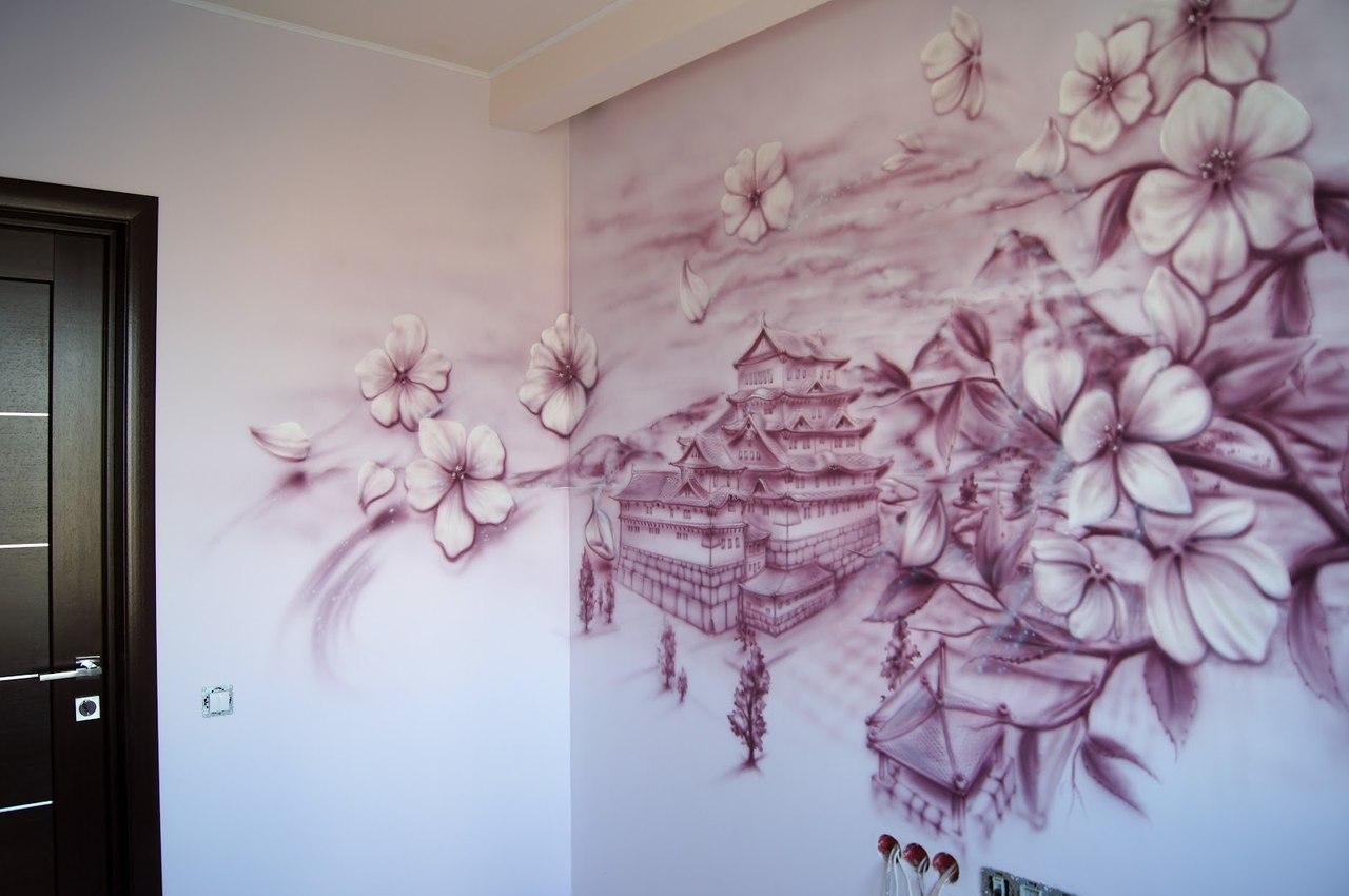 Рисунки на стене в квартире своими руками в детской
