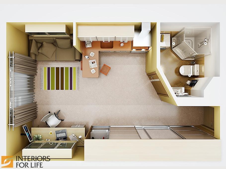 Квартира-студия фото интерьер и планировка